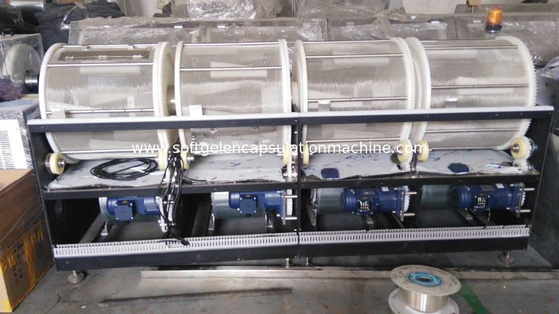 Flue Bed Air Flow Soft Gelatin Tumbler Dryer Ss316 Material Td2 Td4 Plc Control