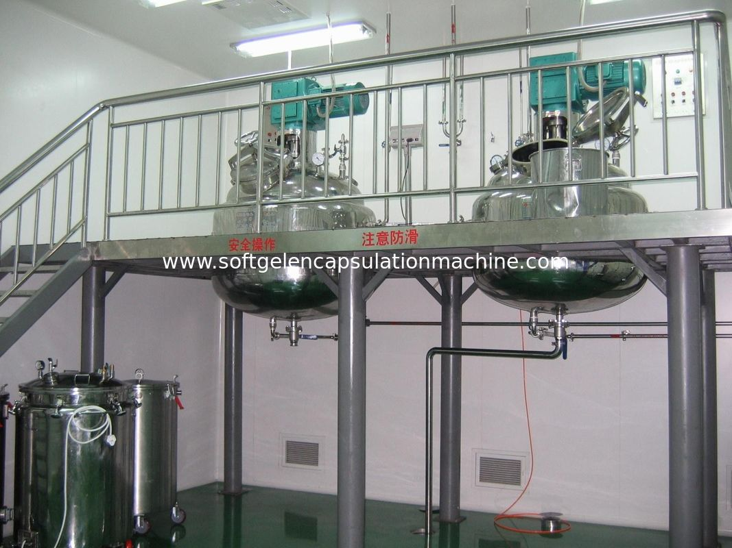 Capsule Manufacturing Machine Three Layered Water Bathe Gelatin Service Tank