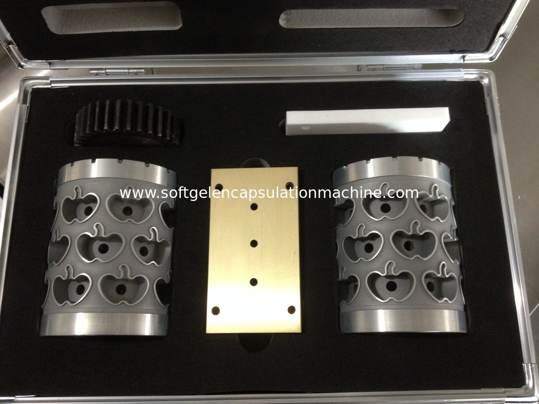 Small Machine Capsule Mold Aluminium Alloy Softgel Complete Die Roll Set